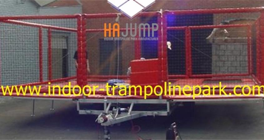 Mobiele Trampolines Trampoline Trailer Hajump Trampolines