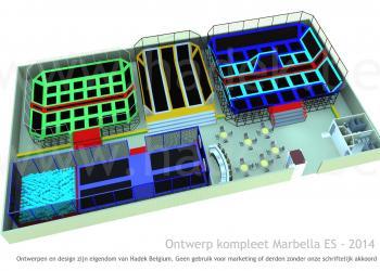 Indoor trampolinepark compleet