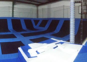 Indoor trampoline park in France Gladiaball Opening April 2015
